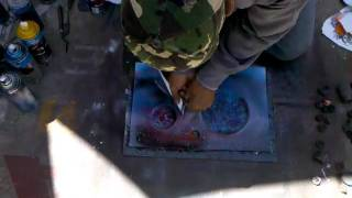 Amazing Homeless Man Street art