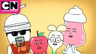 Apple & Onion | Pizza Gets to Ride in a Hot Air Balloon | Cartoon Network