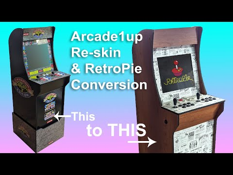 Arcade1up vinyl graphics re-skin and RetroPie conversion from Make It So