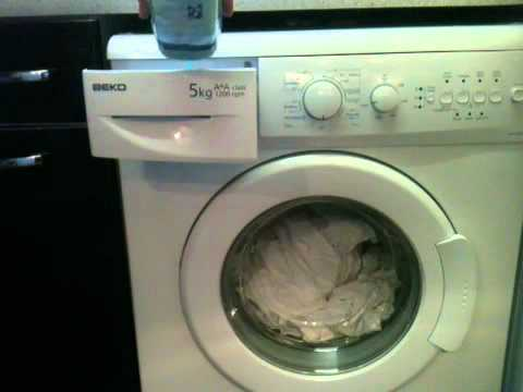 beko wm5120 on 30degree quick wash youtube rh youtube com  beko wm5120w instruction manual