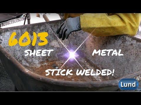 STICK WELDING SHEET METAL with 6013 rods! Beginner Welding Series!