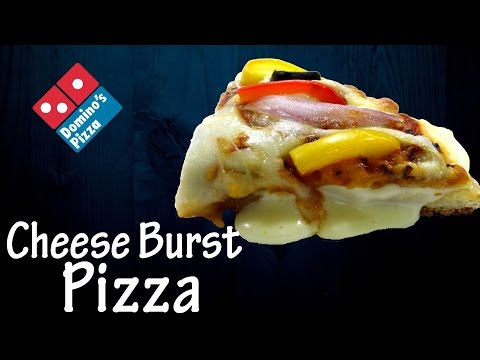 Make Cheese Burst Pizza like Domino's at home! | Recipe of cheese sauce