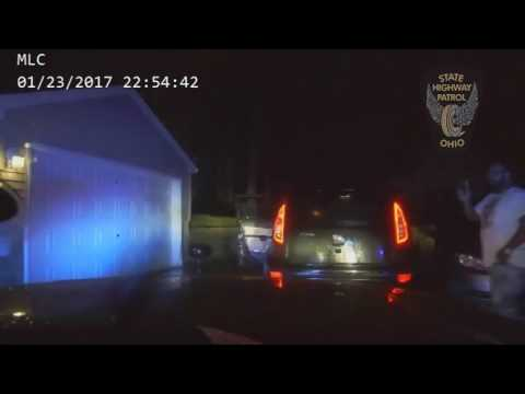 Ohio State Highway Patrol dashboard camera video of Akron arrest