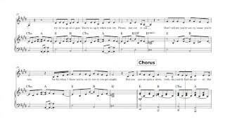 Piano - Take A Bow - Rihanna Sheet Music, Chords, and Vocals