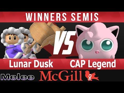 McGill 8 SSBM - Lunar Dusk (Ice Climbers) vs CAP Legend (Jigglypuff) - Winners Semis