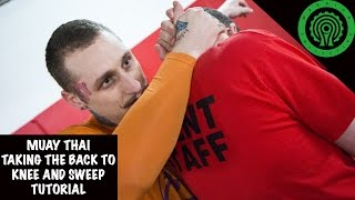 Muay Thai Taking the Back to Knee and Sweep Tutorial
