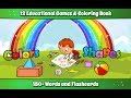 Kids Colors & Shapes Learning game - Kids Coloring book