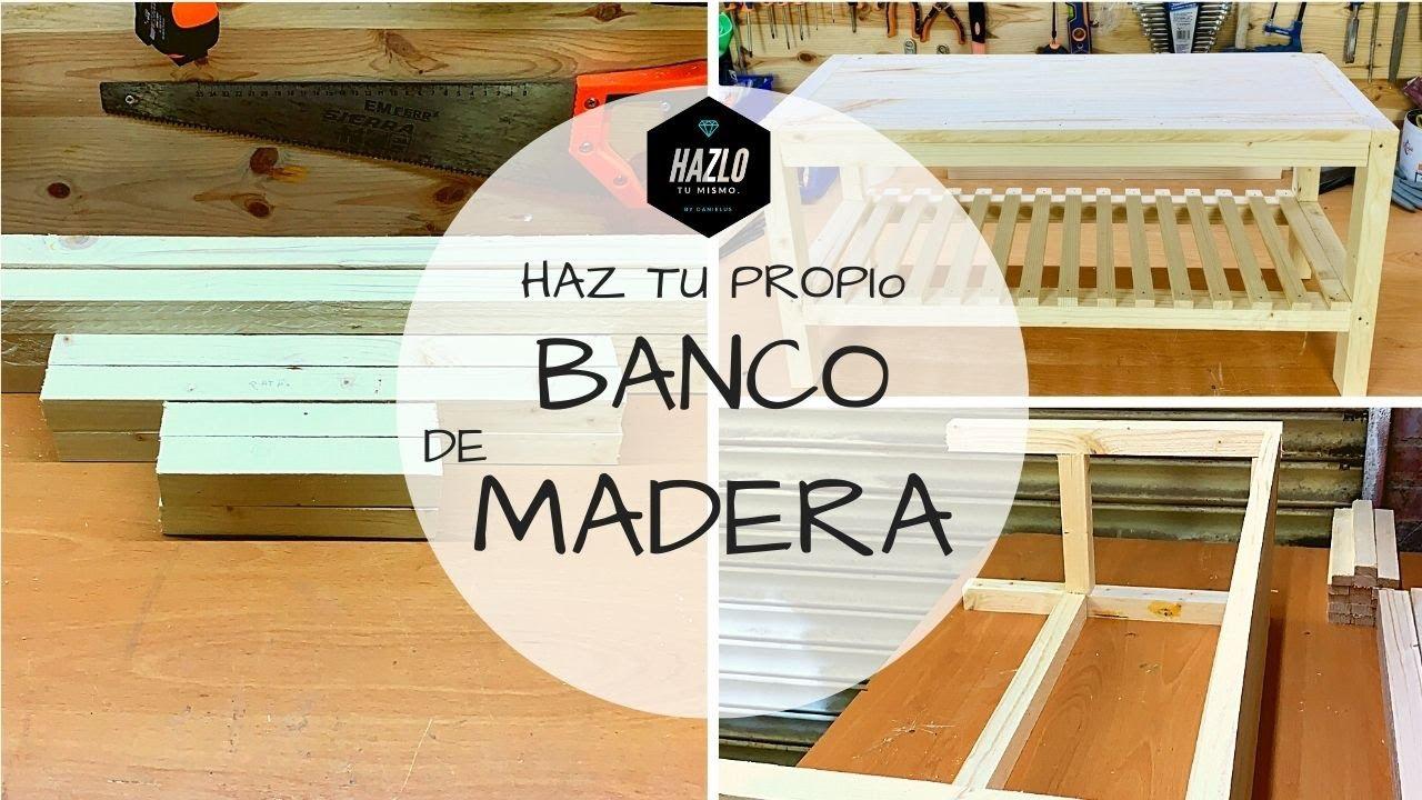 COMO HACER TU PROPIO BANCO DE MADERA