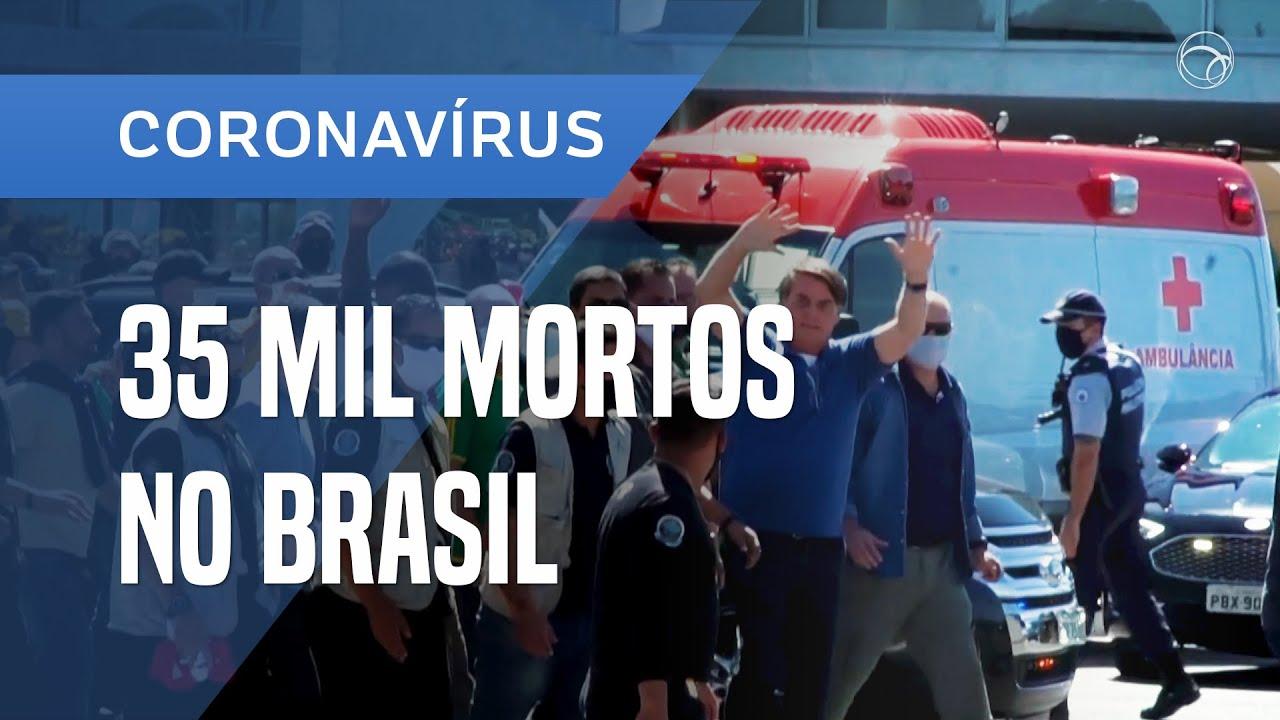 MORTOS POR COVID-19 CHEGAM A 35 MIL; DADOS SÃO DIVULGADOS COM ATRASO PELO MINISTÉRIO DA SAÚDE - online