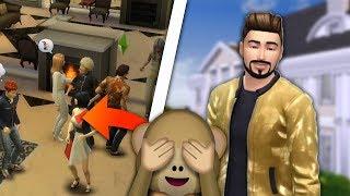 NIEUDANA Impreza w DOMU X   Team X w Sims 4 #04