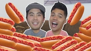 40 Hot Dogs in 10 Mins! (ft. NIGAHIGA & RHPC!)