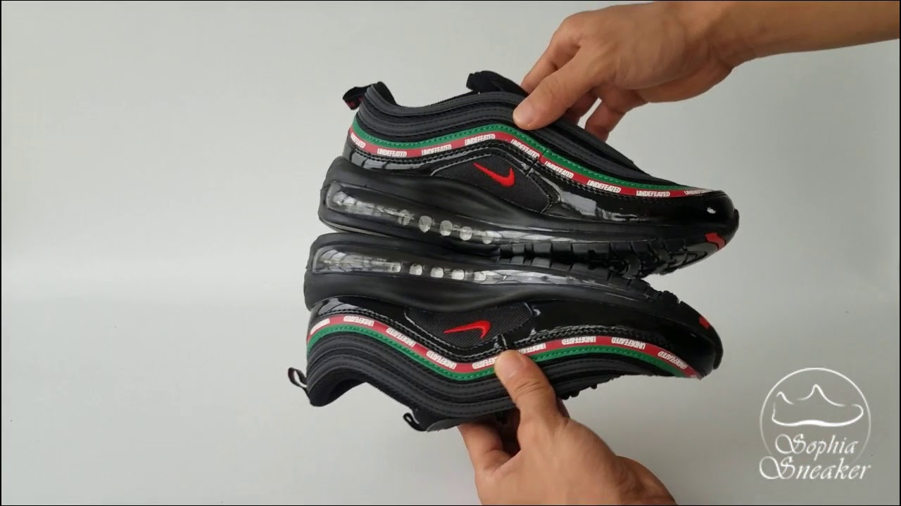 7462470b7386 Air Max 97 Undefeated Black UA Sneakers Unboxing Review - YouTube