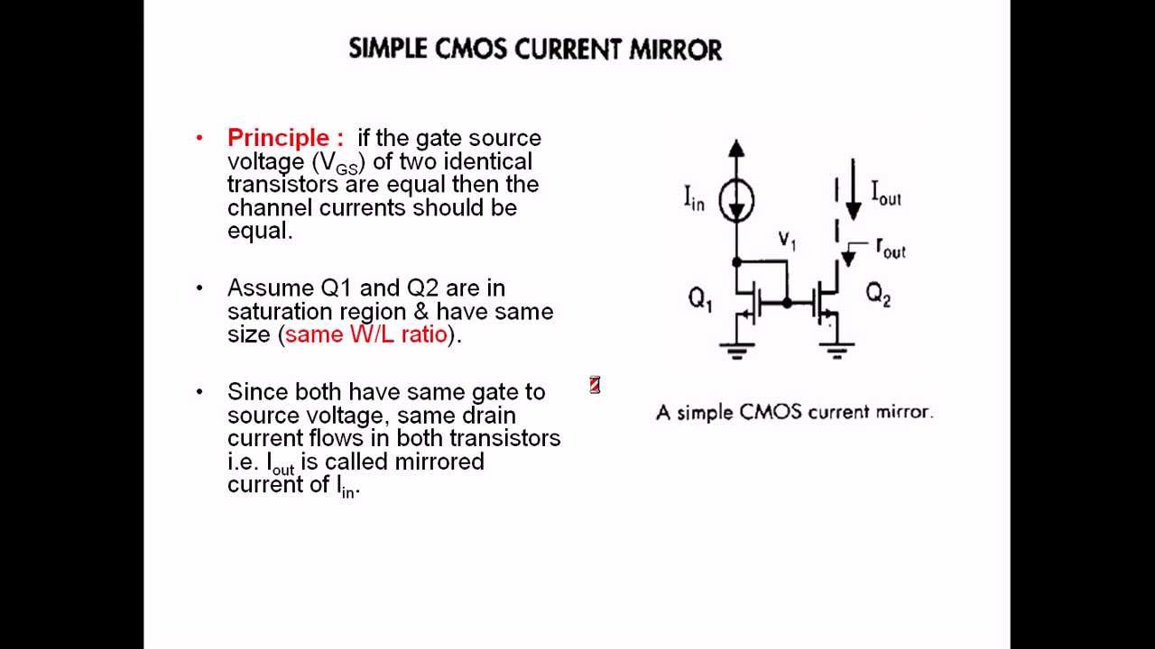 Basics Of Current Mirror Current Sources And Sinks Youtube