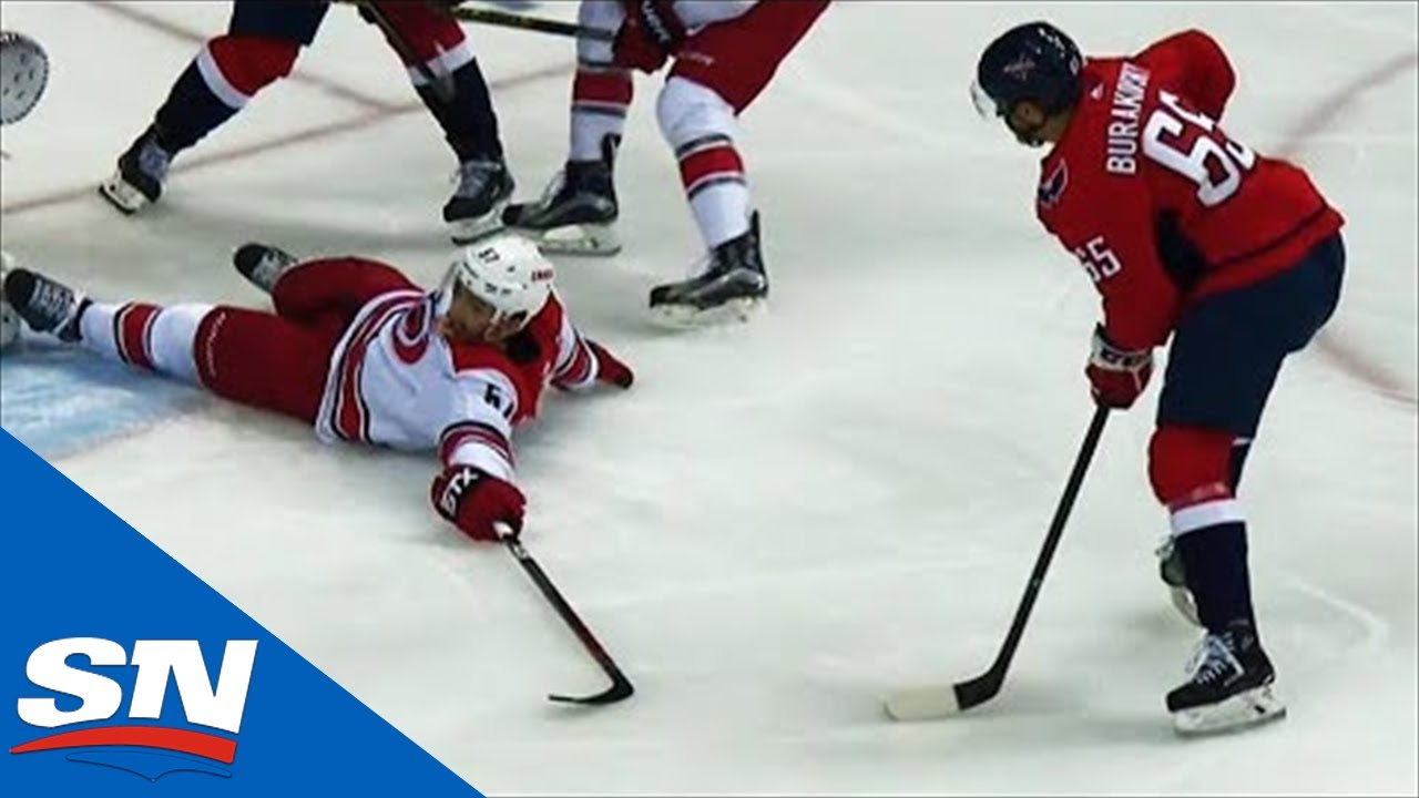 Andre Burakovsky Lays Big Hit, Steals Puck & Roofs It Past Mrazek