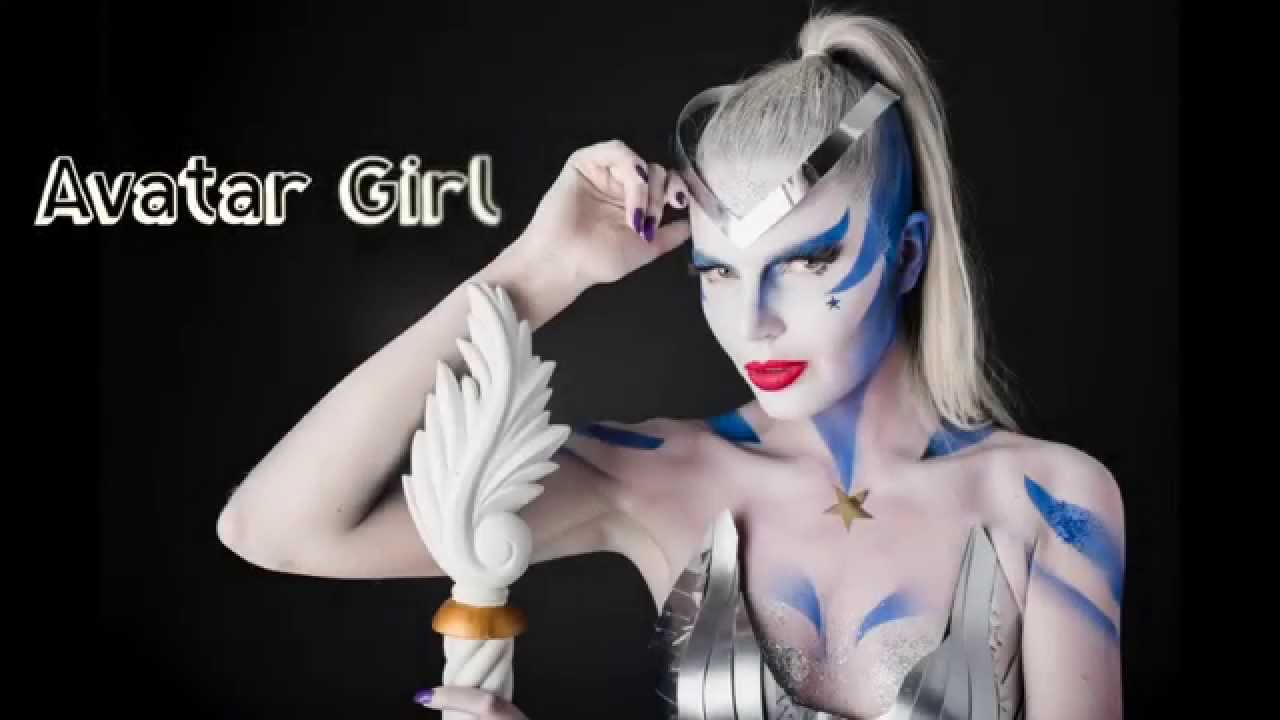 Avatar Girl Body Painting Cosplay Halloween Costume