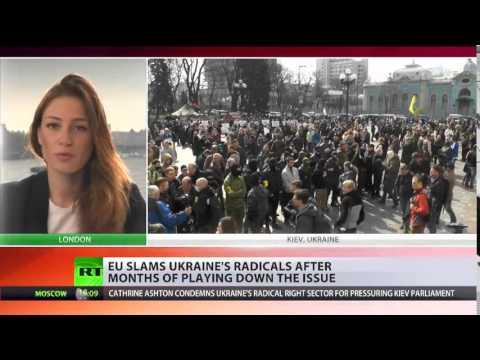 'Against democratic principles' EU's Ashton denounces nationalists' pressure on Ukraine parliament