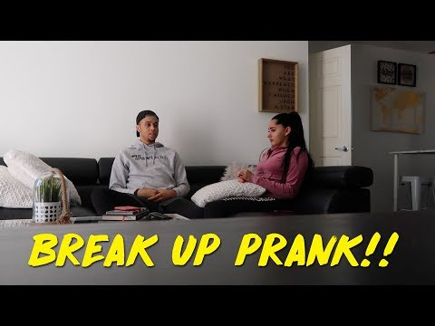BREAK UP PRANK ON GIRLFRIEND!!! (GETS EMOTIONAL) | KB & KARLA