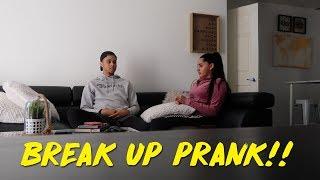 BREAK UP PRANK ON GIRLFRIEND!!! (GETS EMOTIONAL) | KB & KARLA