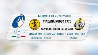 TOP12 2018/19, Giornata 10 - Viadana Rugby 1970 v Kawasaki Robot Calvisano