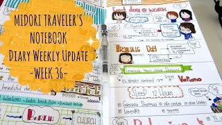 Midori Traveler's Notebook- Diary Weekly Update-WEEK 36-