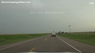 LIVE Kansas/Oklahoma High Risk Storm Chase - Team Haxby - 5/18/2017