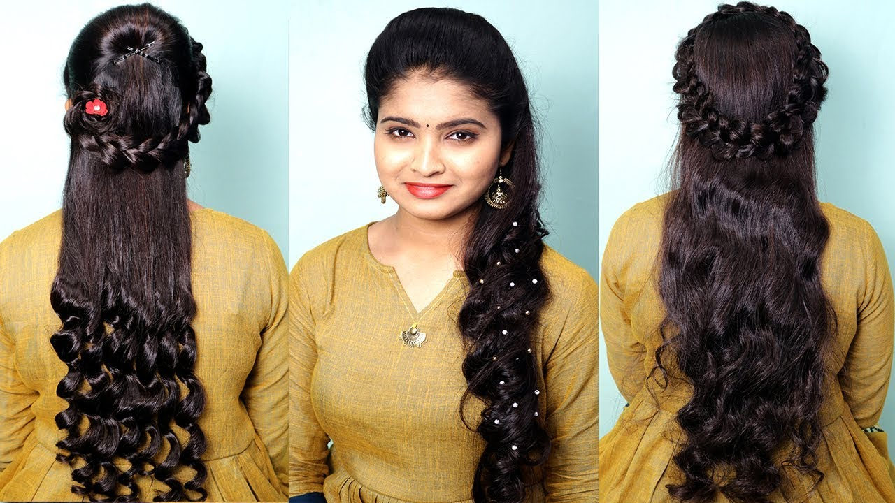 Beautiful Party Hairstyles For Open Hair Easy Hairstyle For Long Hair Girls Curly Hairstyles