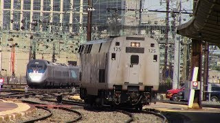 Amtrak Northeast Regional Trains #85 & #96 Engine Switch at Washington DC Union Station