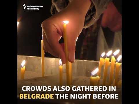 Crowds Gather As Killing Raises Balkan Tensions