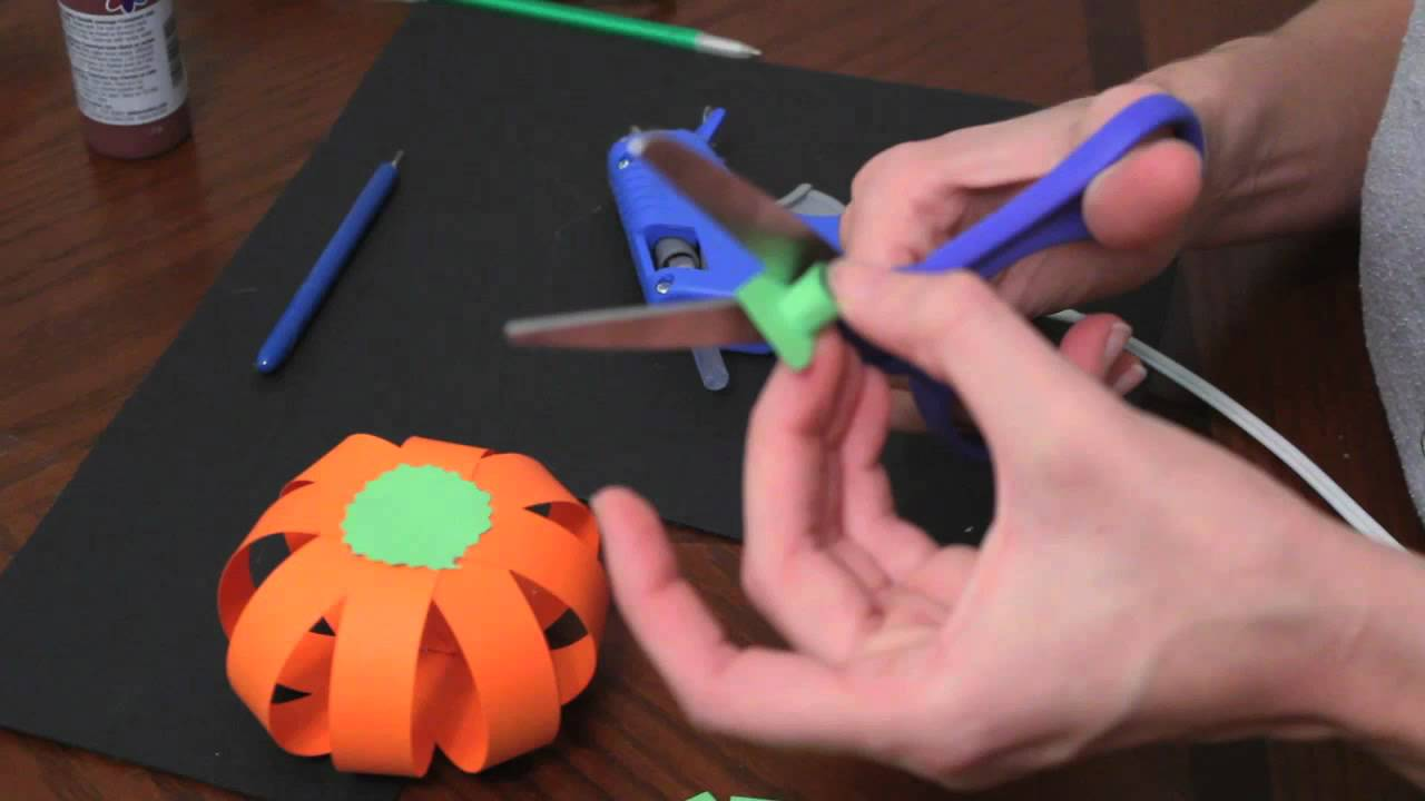 how to make paper pumpkins for fall autumn and halloween youtube