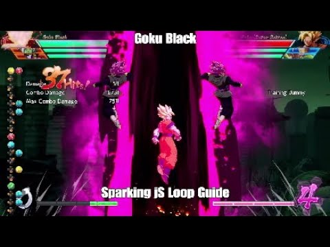 DBFZ - Goku Black How To Perform The Sparking jS Loop