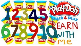 LEARN TO COUNT NUMBERS 1-10 WITH PLAY-DOH In ENGLISH l Squishy Fun