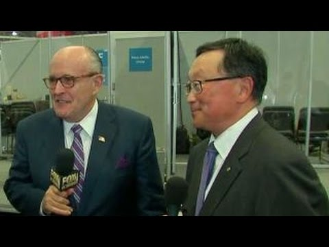 Rudy Giuliani partners with Blackberry CEO John Chen to combat cyber-attacks