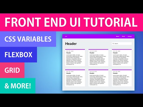 Full Front End UI Tutorial | HTML & CSS