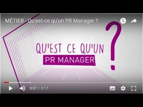 Metier Qu Est Ce Qu Un Pr Manager Youtube