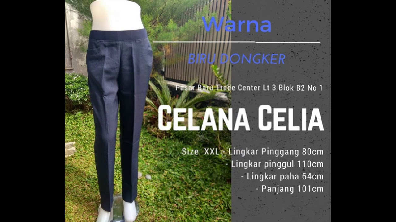 082177812336 Celana Kerja Wanita Pinggang Karet Cellia Di Purwakarta
