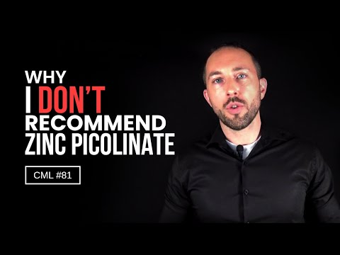 Why I DON'T Recommend Zinc Picolinate | Chris Masterjohn Lite #81