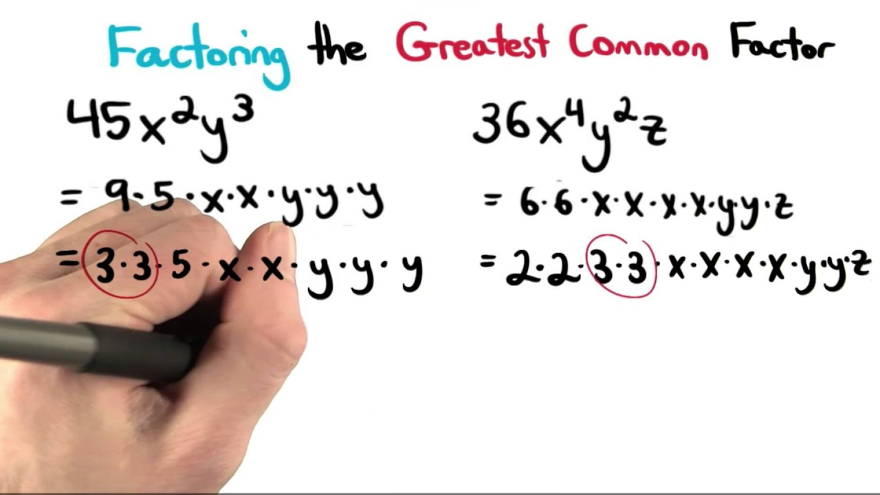 Greatest Common Factor With Variables