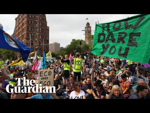 Extinction Rebellion protesters disrupt cities in New Zealand and Australia