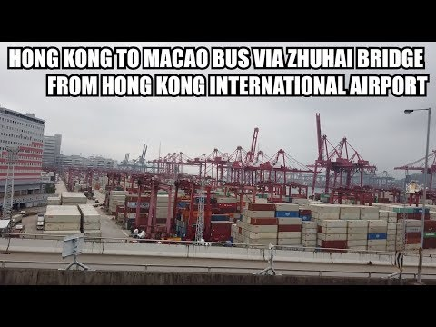 Hong Kong to Macao HZMB Bus from HK Airport