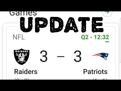 Las Vegas Raiders Update Versus The Patriots By Joseph Armendariz