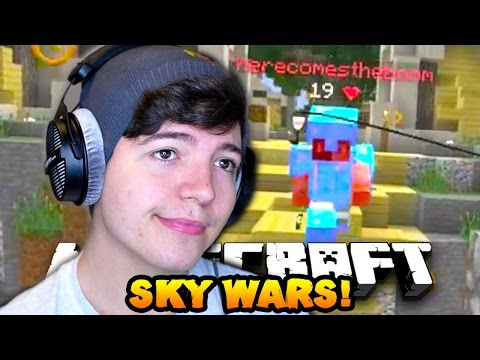 "Minecraft SOLO SKY WARS #11 ""ESCAPING DEATH!!"" w/PrestonPlayz"
