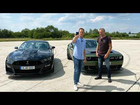 Duell der Doppel-Whopper – Dodge Challenger SRT Hellcat Redeye, Ford Mustang Shelby GT 500 I GRIP