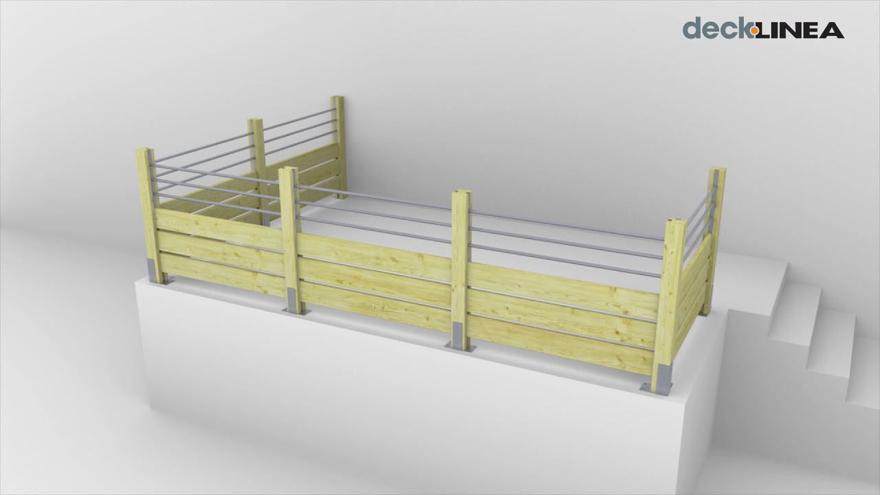 Construire Un Garde Corps En Bois garde-corps bois jersey tubes aluminium et lames ajourées pour terrasse