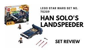 Lego Star Wars Han Solo's Landspeeder Review - Set Number 75209