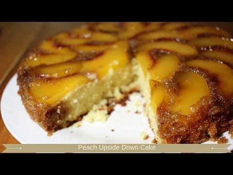 Peach upside down cake : Upside down peach cake recipe