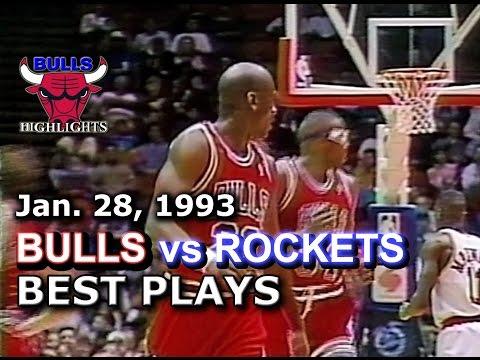 January 28 1993 Bulls vs Rockets highlights