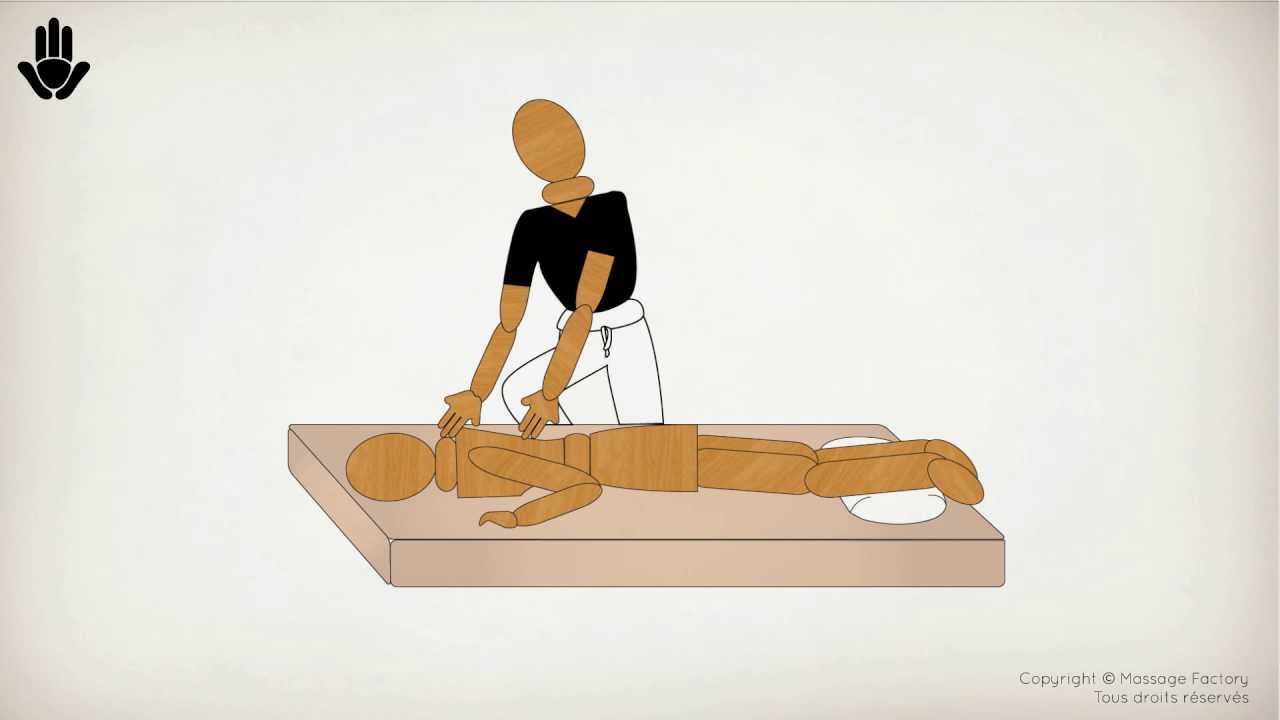 la position shiatsu sur une table de massage