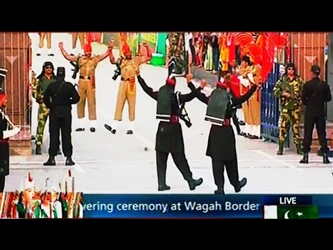 Wagah Border Ceremony 14 August 2016 | Express News