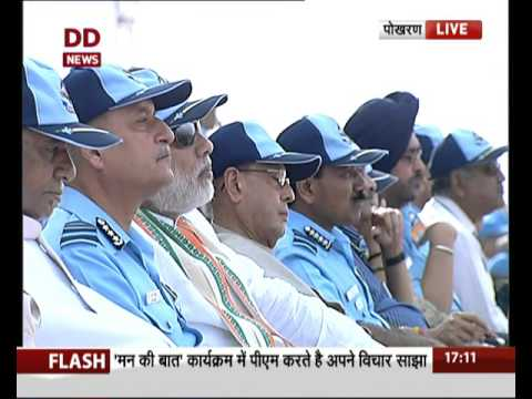 President, PM witness IAF's firepower at Iron Fist 2016 in Pokhran