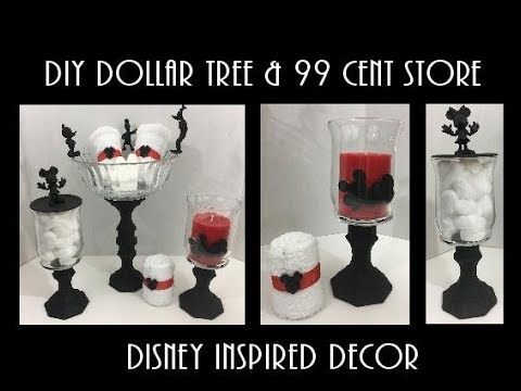 DIY Dollar Tree & 99 cent Store Disney inspired Decor